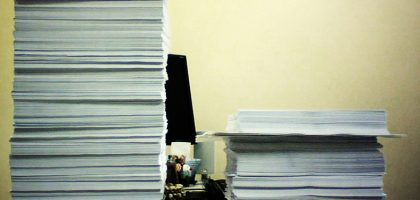 """Piles of Paper"""