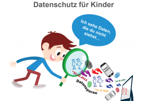 Abbildung: Cover der Einladung zur Dialogkonferenz Datenschutz für Kinder