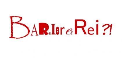 das Wort barrierefrei mitunterschiedlichen Font-Buchstaben